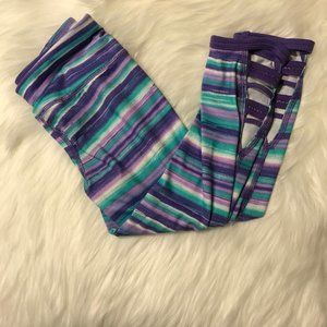 Athletic works striped pants small 6/6x